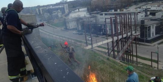 Kadish Park bluff burn